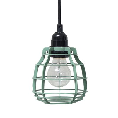 INDUSTRIAL METAL PENDANT LIGHT in Green