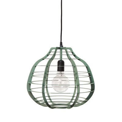 LARGE INDUSTRIAL METAL CEILING LIGHT in Green