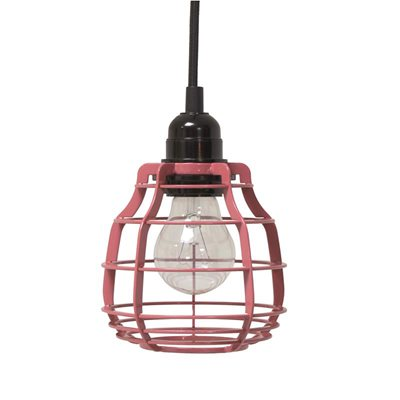INDUSTRIAL METAL PENDANT LIGHT in Marsala Red
