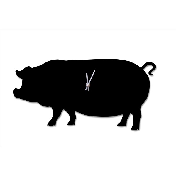 Wagging Tail Quirky Pig Clock