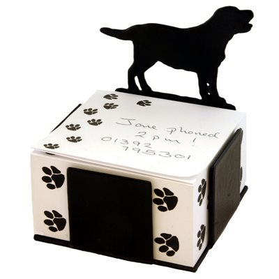 LABRADOR DOG NOTE BLOCK PAPER HOLDER by The Profiles Range