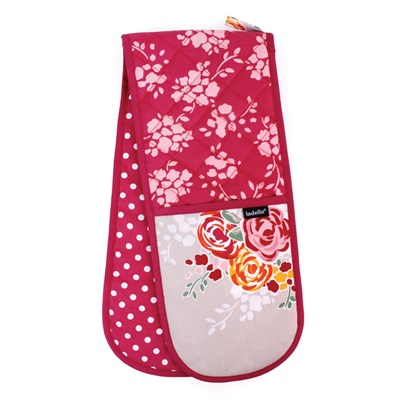 CHARLOTTE DOUBLE OVEN MITT in Floral Design