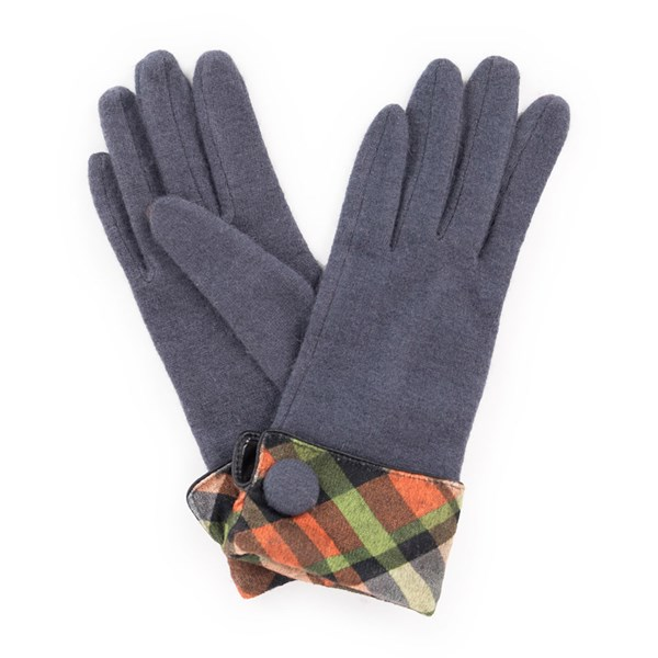 Powder Heather Wool Gloves in Charcoal