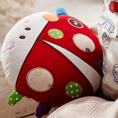 BABY LADYBIRD 'ABC' ACTIVITY CUSHION
