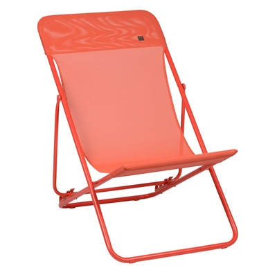 LAFUMA MAXI TRANSAT FOLDING DECKCHAIR in Orange