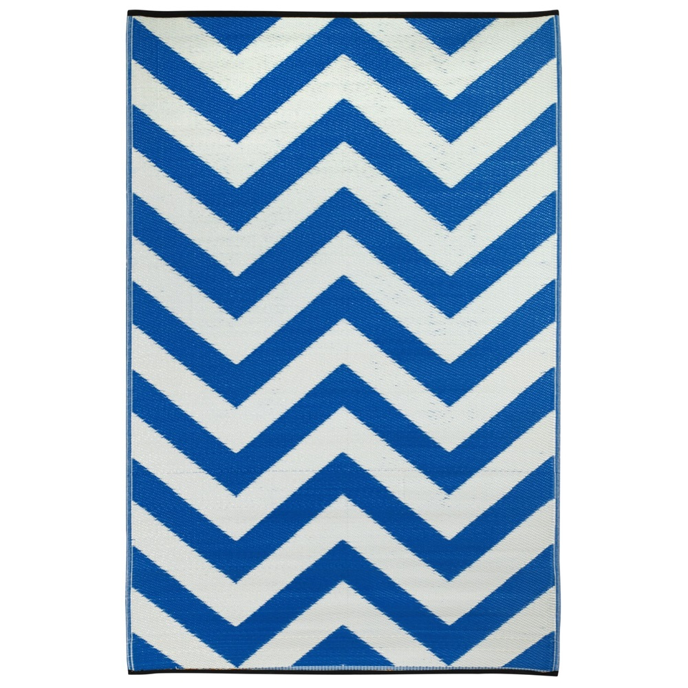 blue and white chevron rug - laguna outdoor rug in blue white outdoor rugs cuckooland