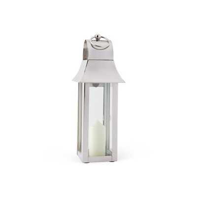 CULINARY CONCEPTS TONTO Lantern in Chic Stainless Steel with Nickel Plate