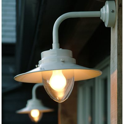Image of BELFAST MOUNTED GARDEN WALL LIGHT in Industrial Style