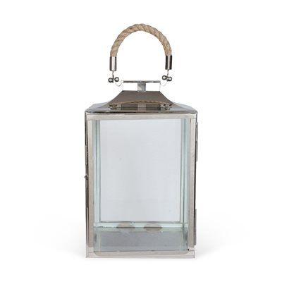 CULINARY CONCEPTS SMALL LA ROCHELLE LANTERN in Nickel Plate Finish