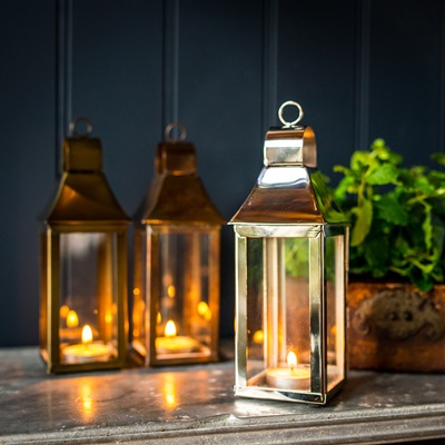 EXTRA SMALL TONTO Lantern in Stainless Steel with Nickel Plate