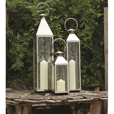 CHELSEA Traditional Lantern in Stainless Steel With Nickel Plate Finish