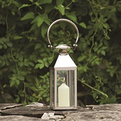 SMALL STATION Lantern in Nickel Plate Stainless Steel