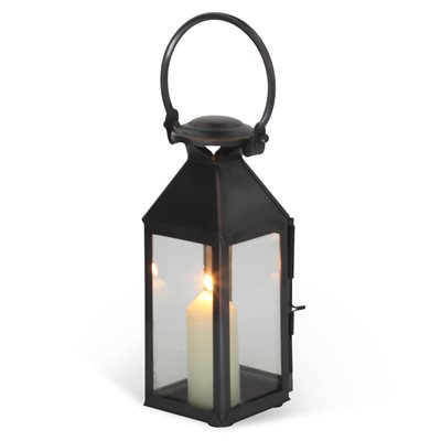EXTRA SMALL CHELSEA Lantern in Venetian Stainless Steel With Bronze Finish