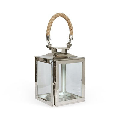 EXTRA SMALL LA ROCHELLE Lantern In Nickel Plate Finish