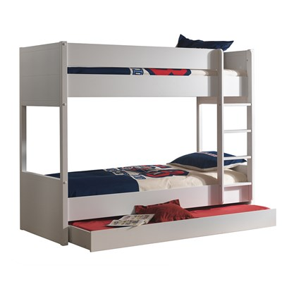 Lara Kids Bunk Bed In White Bunk Beds Cuckooland