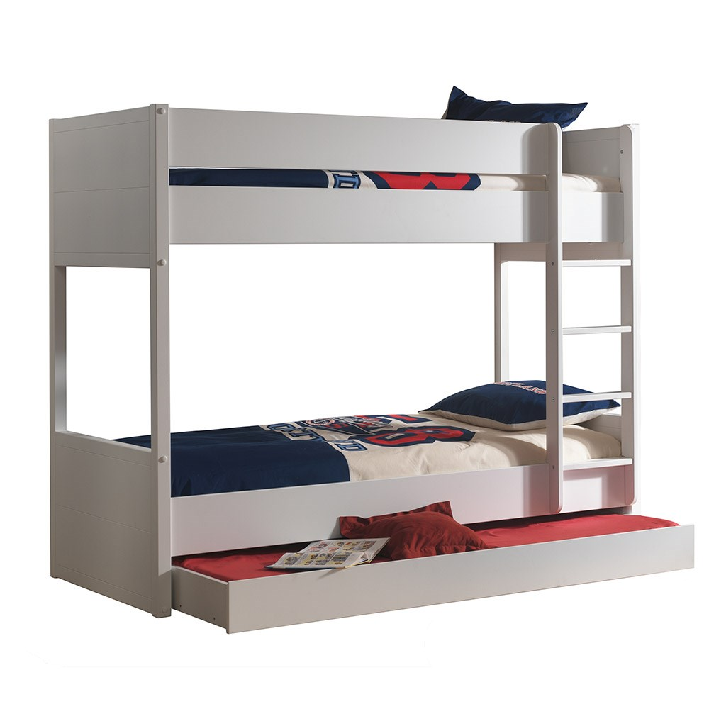 Lara Kids Bunk Bed In White Bunk Beds Cuckooland