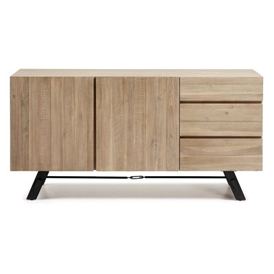 VITA WOODEN SIDEBOARD  in Black and Acacia