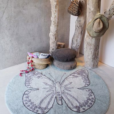 LORENA CANALS BUTTERFLY KIDS WASHABLE ROUND RUG