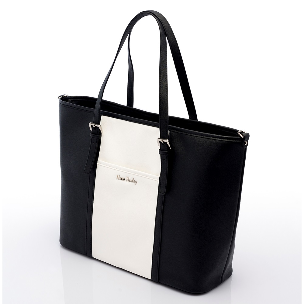 Nova Harley Miami Changing Bag In Black And White Baby