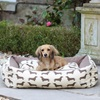 Large Dog Bed in Dachshund Print Brown