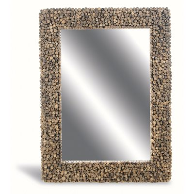 DRIFTWOOD EDGED LARGE MIRROR