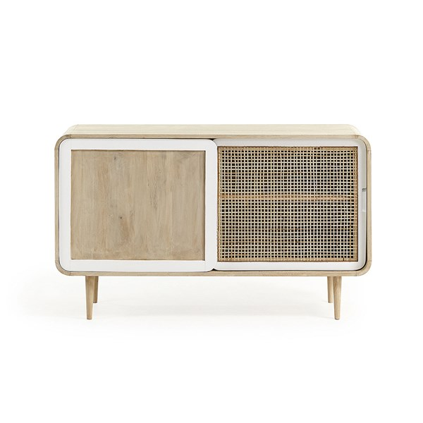 Gerald Mango Wood Sideboard with Sliding Doors by La Forma