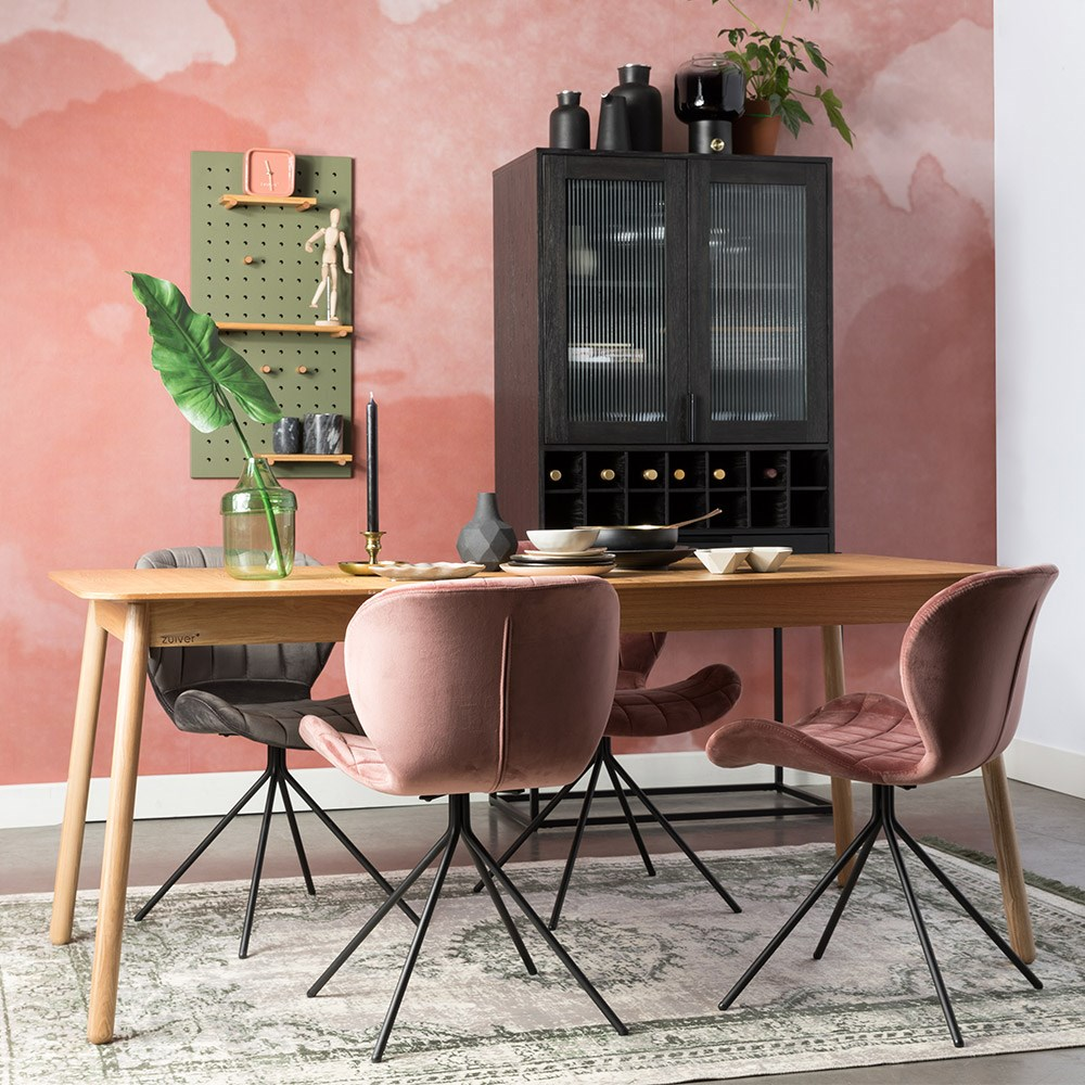 Zuiver glimps extending dining table in ash veneer zuiver cuckooland