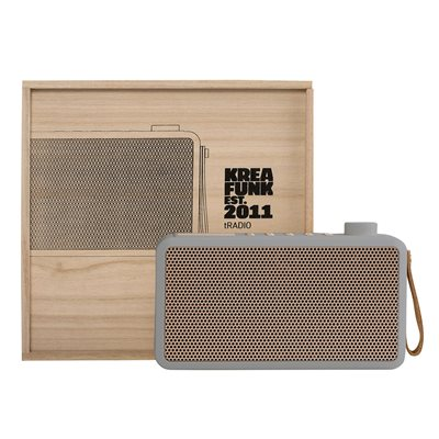 tRadio DAB Radio and Bluetooth Speaker in Grey