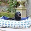Labrador Print Dog Bed in Blue
