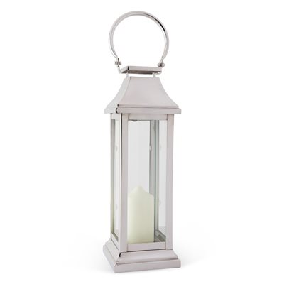 LARGE STATION Lantern in Modern Stainless Steel