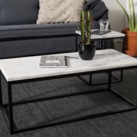 ZUIVER MARBLE TOP COFFEE TABLE with Black Steel Frame  Side Table