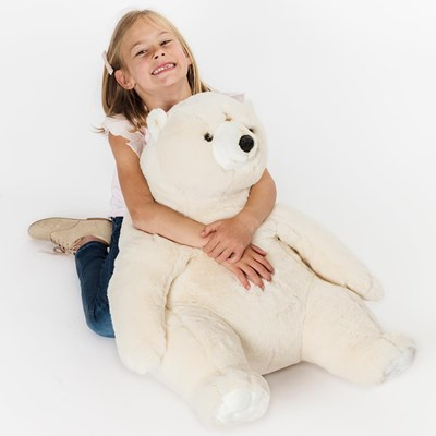 Victor The Polar Bear Kids Giant Soft Toy Wild Soft Cuckooland