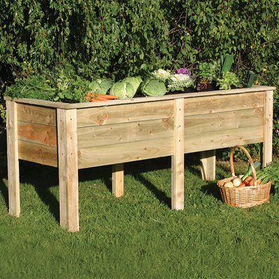 ZEST 4 LEISURE 1.8M WOODEN DEEP ROOT PLANTER
