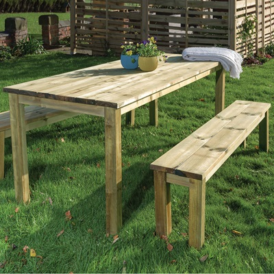 GRANGE ESSENTIAL GARDEN TABLE AND BENCHES SET