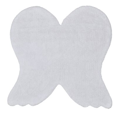 KIDS WASHABLE RUG in White Angel Wing Design