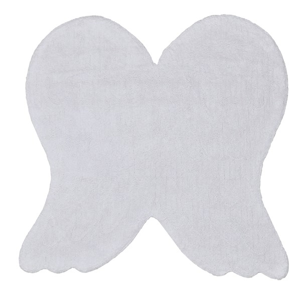 Plain White Angel Wings Rug