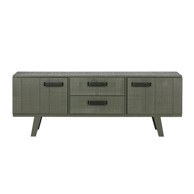 WATCH WOODEN TV STAND in Forest Green by Be Pure Home