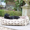 Large Dog Bed in Spaniel Print Brown