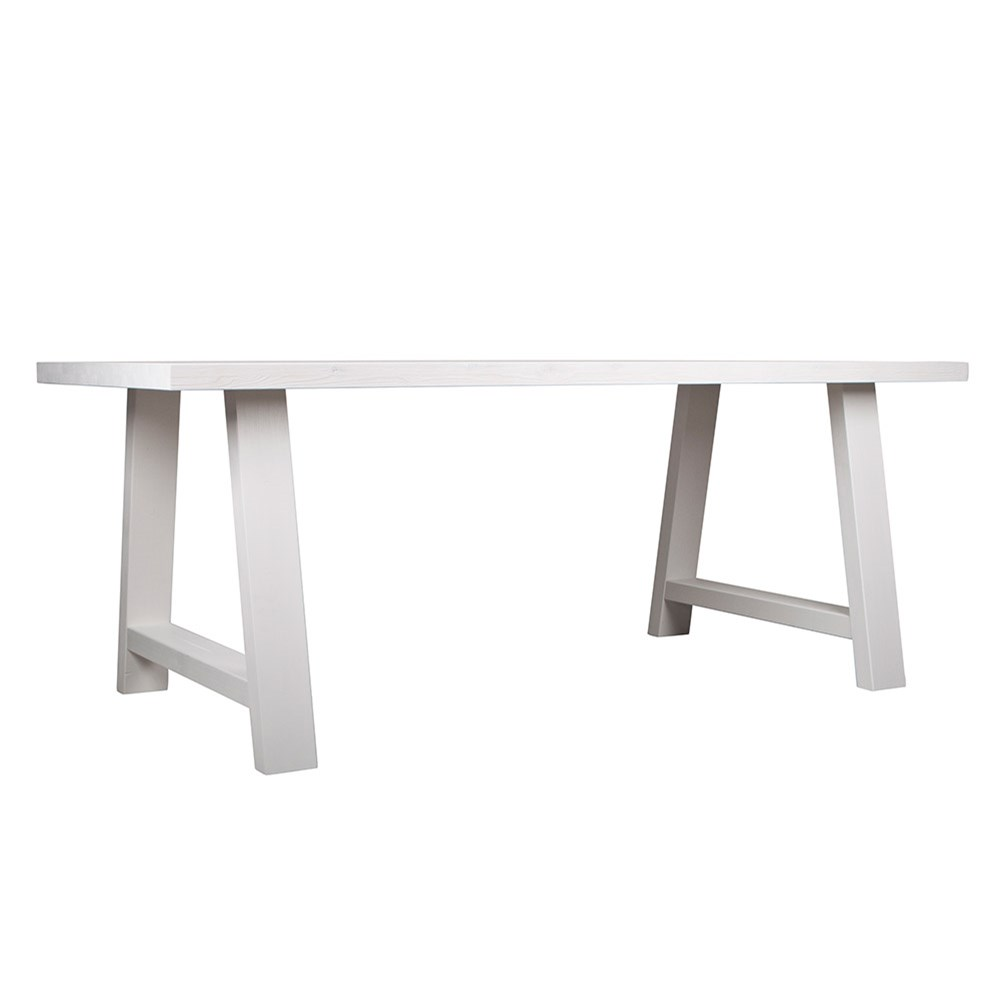 Zuiver A-Framed Dining Table In White - Zuiver | Cuckooland