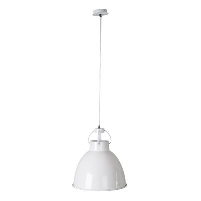 ZUIVER WHITE PENDANT CEILING LIGHT in Industrial Metal Finish