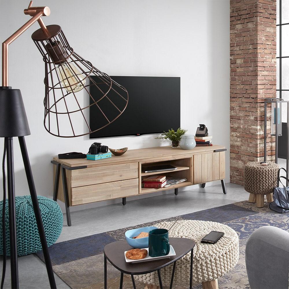 premium selection 47e7c 2d038 Disset Acacia Wood Tv Unit