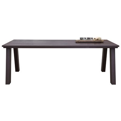 CLASSIC SOLID 8 SEAT OAK DINING TABLE in Chocolate