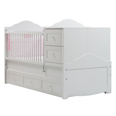 LAURA COT BED in White