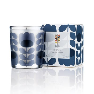 ORLA KIELY TRAVEL CANDLE in Lavender