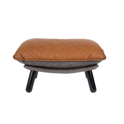 ZUIVER LAZY FOOTSTOOL in Vintage Brown