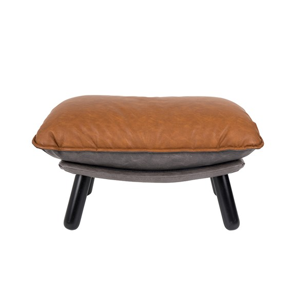 Lazy Footstool in Vintage Brown