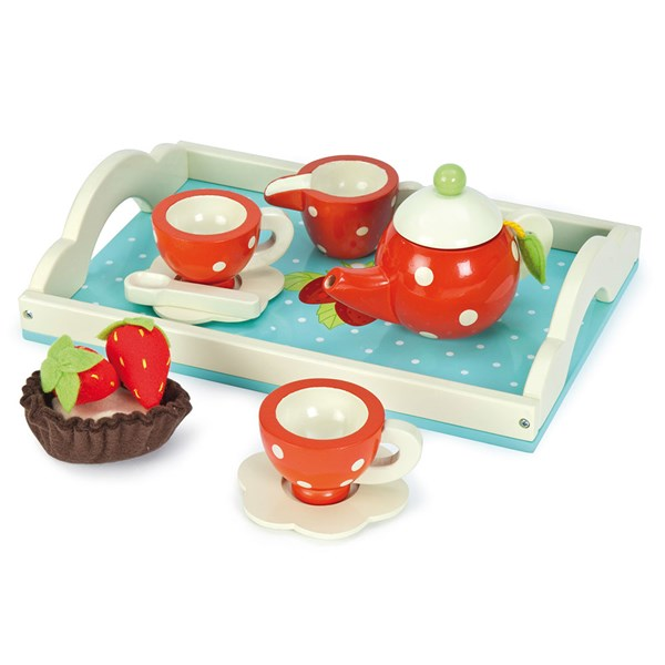 Le Toy Van Honeybake Tea Set in Strawberry Design