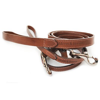 DOG LEAD in Slim Leather Design