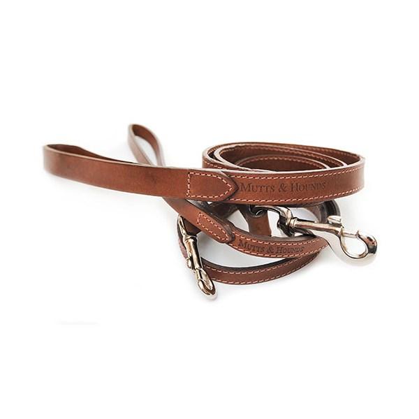 DOG LEAD in Slim Leather Design