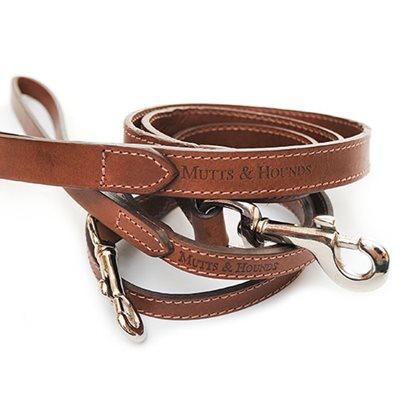 DOG LEAD in Wide Leather Design